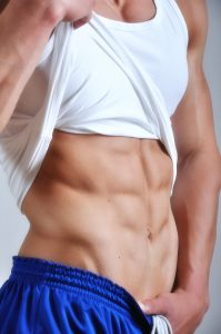 Hot man's 6 pack abs